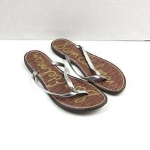 Sam Edelman Womens Size 9M Gracie Flip Flop Thong Sandal Silver Brown  - $19.79