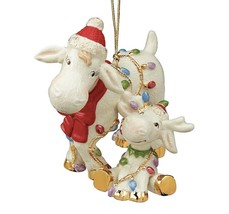 Lenox 2019  Holiday Marcie And Baby Moose Ornament - $42.45