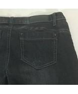 Women's Jeans Twentyone Black Rue21 Size 7/8R Embellished Distressed - $14.84