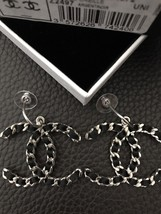 NEW Only1 NIB CHANEL XL Large CC Silk Ribbon Quilted Chain Earrings Matt... - $1,282.05