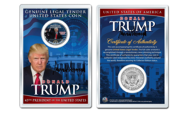 DONALD J. TRUMP  1-20-2017 INAUGURATION JFK Half Dollar Coin in PREMIUM ... - $10.35