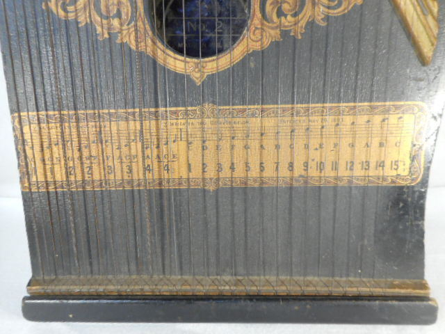 Vintage 1894 Made in the USA Zither Harp