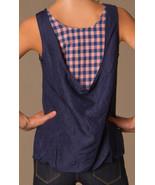 NWT $258 New Womens Marc Jacobs Silk Sleeveless Top Blue Pink Checks M C... - $103.20