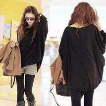 Fashion Batwing Loose Top Pullover - $22.60
