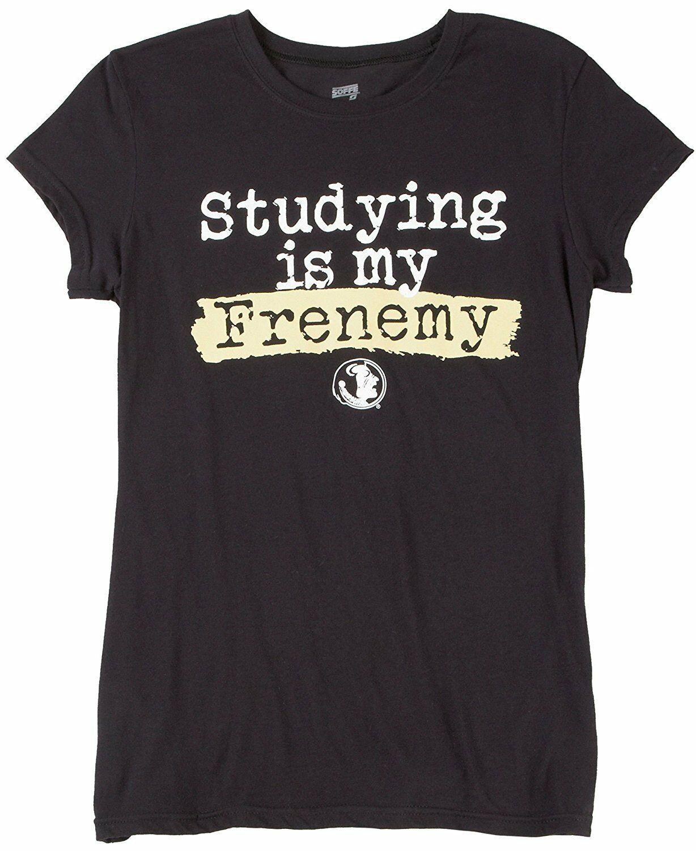 NCAA FLORIDA STATE SEMINOLES WOMEN'S FRENEMY XL BLACK COTTON T-SHIRT NEW - $14.75