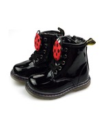 Girls Toddler Black Lady Bug Boots Autumn Boot Non-slip Warm Lace up Ank... - $69.99+