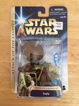 Star Wars Yoda Attack Of The Clones Battle Of Geonosis Action Figure Has... - $14.99