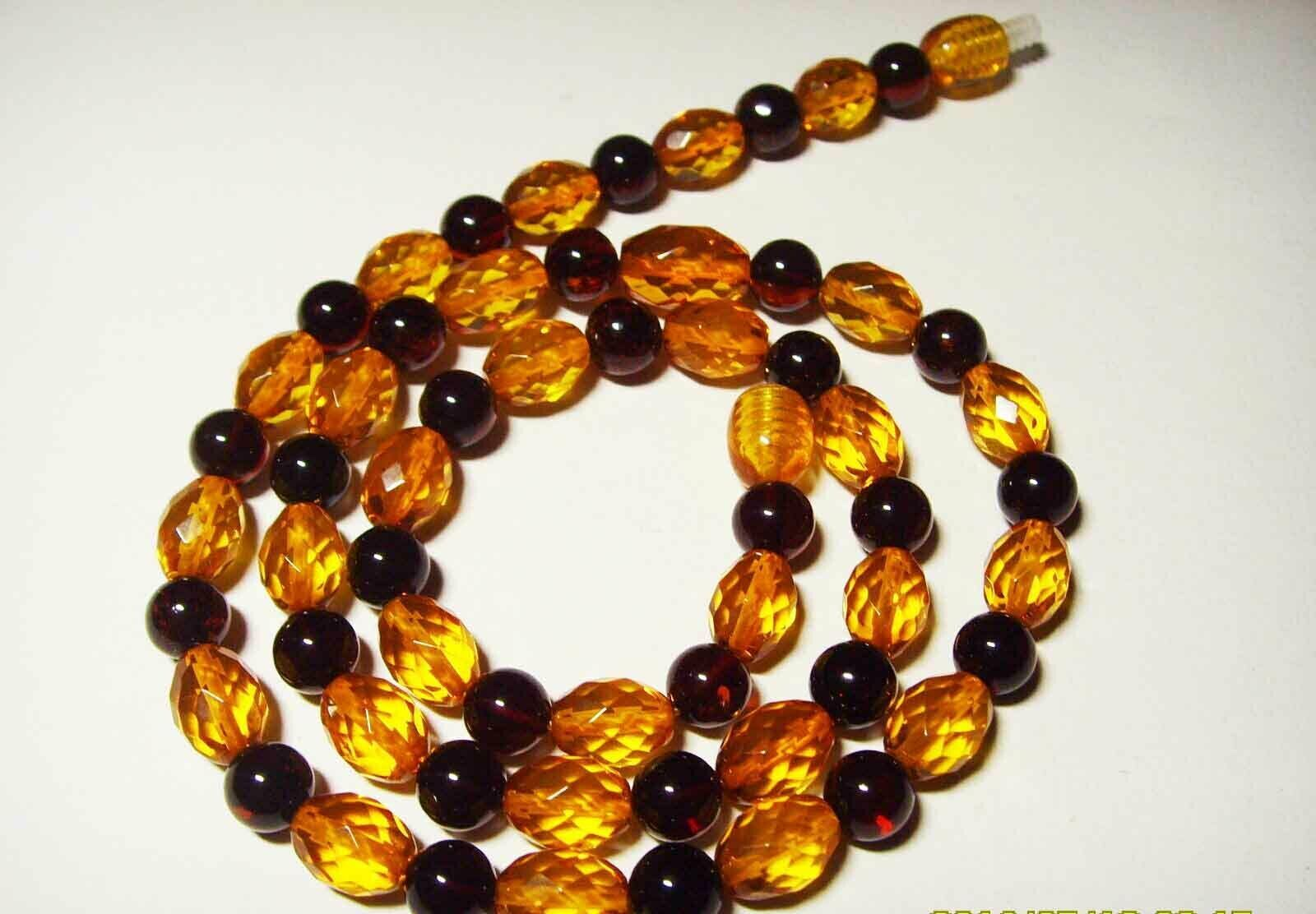 Primary image for Amber necklace Genuine baltic Amber colorful mixed shape beads   12.06gr. A-437