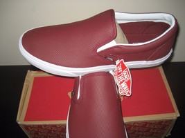 Vans Classic Slip on Mens Perf Leather Port Skate Surf Boat shoes Size 1... - $54.43