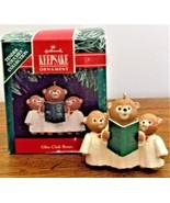 1991 Hallmark Keepsake Ornament Glee Club Bears Tender Touches Collectio... - $7.91