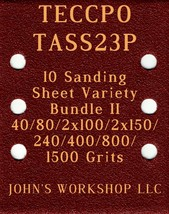 TECCPO TASS23P - 40/80/100/150/240/400/800/1500 - 10pc Variety Bundle II - $12.46