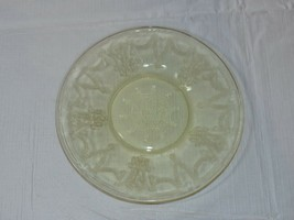 "Amber Glass Bread Plate 6 1/8"" wide vintage Hocking - $13.35"