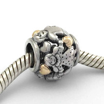Authentic Pandora Family Forever Sterling Silver &14K Bead Charm 791040 New - $67.44