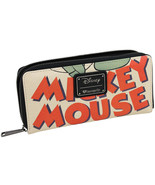 Loungefly Disney Mickey Mouse Classic Zip Faux Leather Clutch Wallet WDW... - $36.00