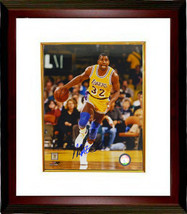 Magic Johnson signed Los Angeles Lakers 8x10 Photo Custom Framed (yellow... - $116.95