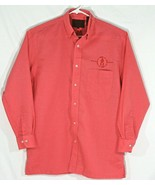 Coyote Mood Mens Medium Long Sleeve Button up Shirt Pink Cowboy Up Embro... - $32.73