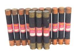 LOT OF 13 COOPER BUSSMANN FRS-R-7 FUSETRON DUAL-ELEMENT FUSES FRSR7, 600V