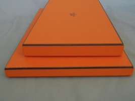 Hermes Box 2 Orange Boxes for Scarf Shawl  9 x 15 and 14 1/2 x 7 1/2 - $47.52