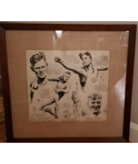 Original Sketch FAMOUS Cartoonist Writer Artist Athlete FEG MURRAY 1920 ... - $375.00