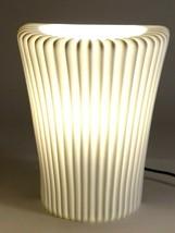 "Art Deco Light Sconce / Torch - By Ikea Stilleben White 9.25"" Tall White - $58.85"