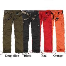 Womens Cargo Pants Hip Hop Dance Pants Multi-Pockets Pants Cotton Trousers Outdo
