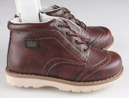 OshKosh B'Gosh Toddler Burgundy Brayan Wingtip Fashion Boots Shoes NEW image 3
