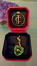 NWT NIB Juicy Couture Pale Green/Blue Crystal Heart with Crown Bracelet ... - $36.63