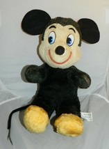 Vintage 1960's Walt Disney Character Productions Mickey Mouse Plush Stuffed Rare - $74.25