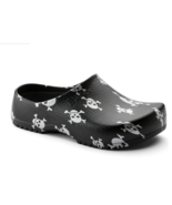 Birkenstock Mens Super Birki Black Skulls Comfort Slip On Slippers Clogs... - £97.81 GBP