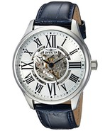Invicta Men's Vintage Stainless Steel Automatic-self-Wind Watch with Lea... - $570.99