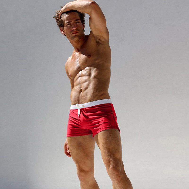 Men Hot Swimwear Swimming Trunks Boxers Swimsuit Beach Shorts Sexy Sunga Briefs