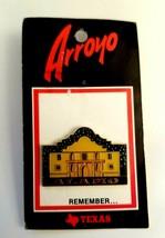 VTG Alamo Texas Gold Tone Cloisonné Enamel TX Souvenir Collectible Lapel... - $11.14