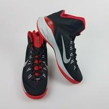 Nike Mens Hyperdunk Lunarlon Black Red Basketball Shoes 653640 003 Size 12 - $89.95