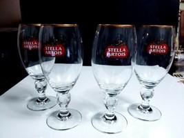 "Set of 4 Stella Artois ""Anno 1366"" Belgium Beer Ale Chalices Pint Glasse... - $21.78"