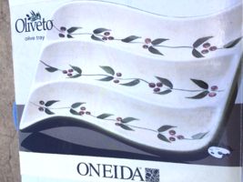 "New Oneida China Hand Painted Oliveto Section Olive Tray Olives 7 1/4"" - $14.84"