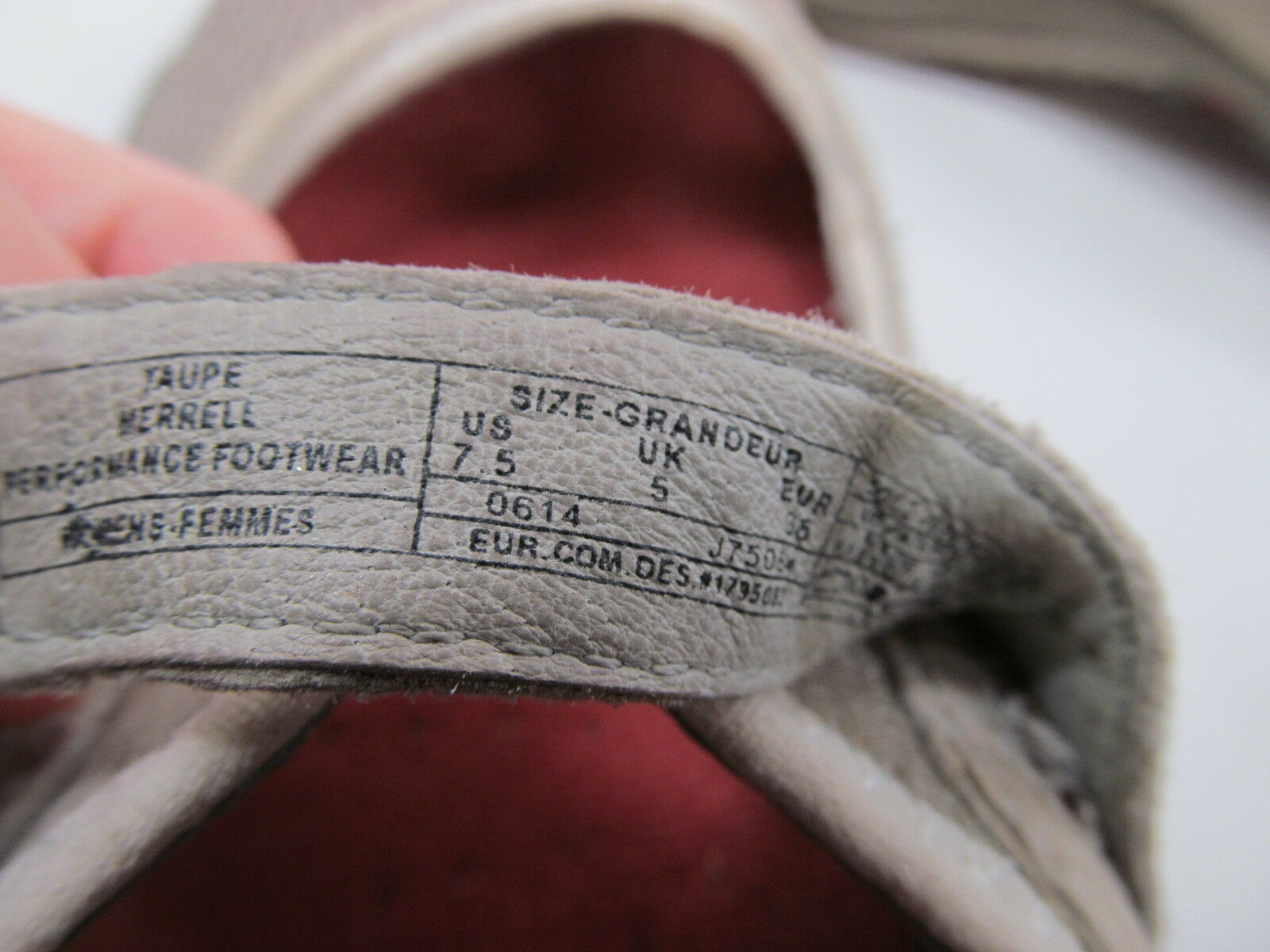 Merrell Taupe Womens Mesh Shoes Size 7.5 M Grey Suede Mary Jane Shoes image 9