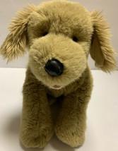"Build a Bear Golden Retriever Puppy Dog Tongue Out Red Collar 12"" Tall 18"" Long - $26.90"