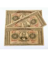 1927 Grecia 50 Drachmai Billetes Lote de 3 (Buen Estado) P# 97a - $53.36