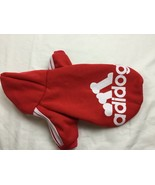 Winter Casual Adidog Pet Dog Clothes Warm Hoodie Coat Jacket Red size L ... - $11.21
