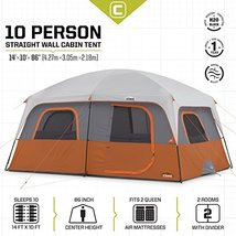 Core 10 Person Straight Wall Cabin Tent 14 X 10 Tents