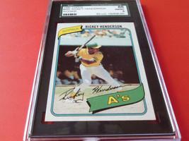 1980 Topps # 482 Rickey Henderson Rookie Sgc 88 Near Mint / Mint 8 - $79.99