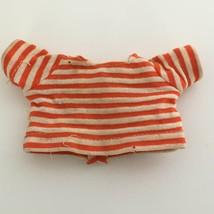 Pocket Dolls Linus Striped Shirt Peanuts Vintage Doll Clothing 1966 Red ... - $4.99