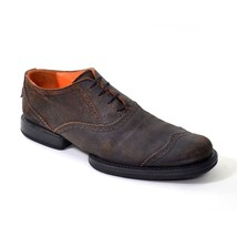 12 GIRBAUD MARITHE OXFORDS Shoes size Men Perfed 45 FRANCOIS Leather Brown 050Cq