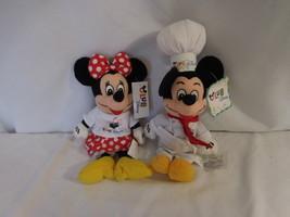 "Disney Chef Mickey 8"" Mini Bean Bag Plush Club Disney + Minnie Mouse Club NWT - $28.02"