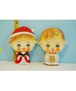 Vintage 1960's Lipper & Mann Christmas Big Eyes Head Choir Salt & Pepper... - $54.45