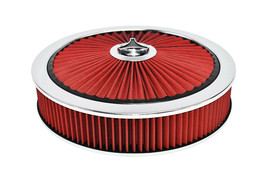 """14"""" High Flow Replacement Air Cleaner Assembly w/ Round Air Filter Element Kit image 2"""