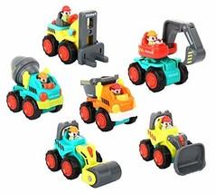Zooawa Pocket Construction Vehicles Trucks Toy, Mini Sliding Toy Cars, 6... - $314,03 MXN