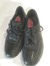 Clarks Dress Shoes Mens Size 11 Lace Up Matte Black Lightweight Leather  - $38.66