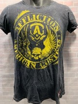 AFFLICTION American Customs Black Yellow T-Shirt Size M - $19.79