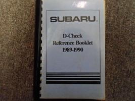1989 1990 Subaru D Check Reference Booklet Repair Shop Manual FACTORY OEM BOOK - $29.65